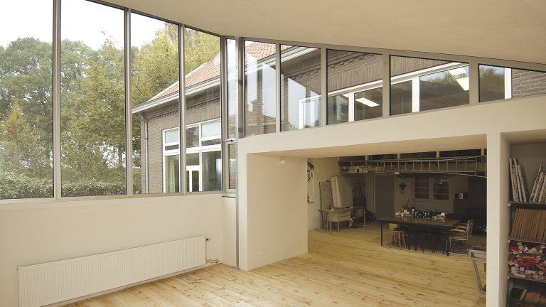 architectuur uitbreiding atelier dak vorm constructie