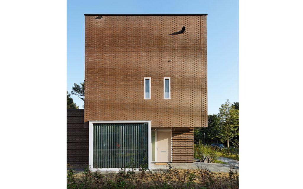 architectuur baksteen patroon aanzicht