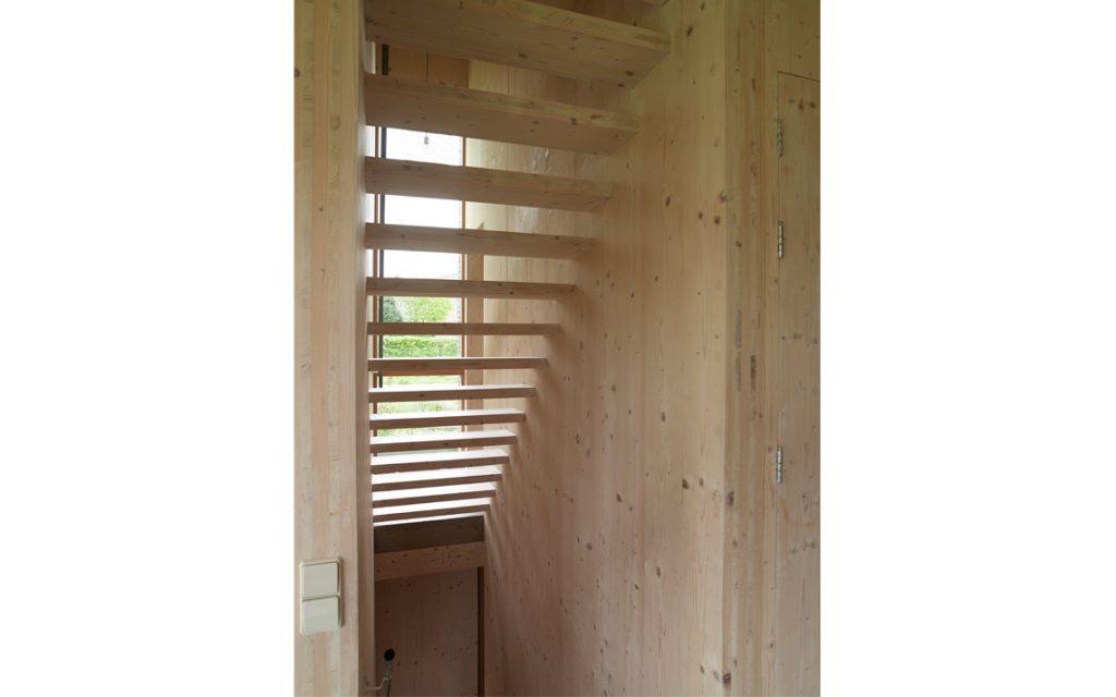 architectuur trap hout doorzicht interieur