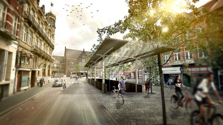 open paviljoen fietsenstalling Maastricht
