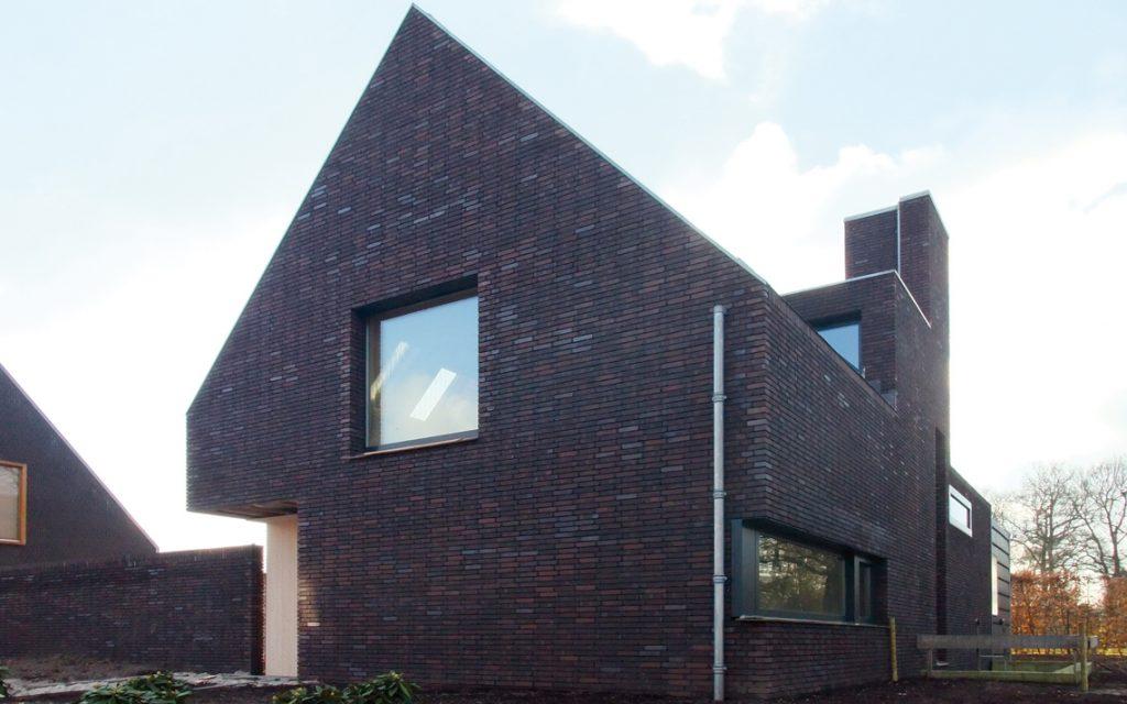 architectuur modern design donkere baksteen