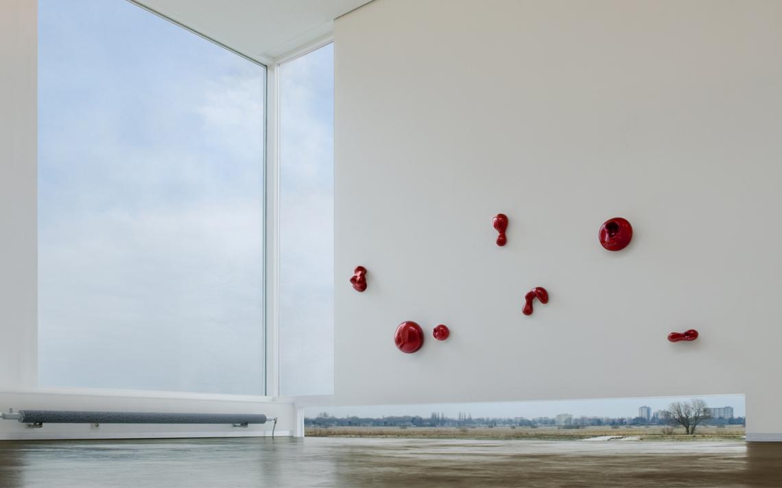 Architectuur interior beton uitzicht kunst galerie