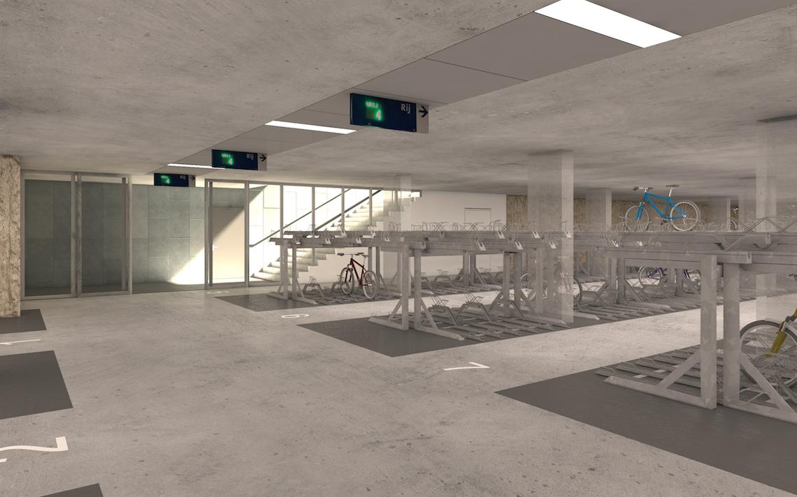 fietsenstalling ondergronds stationsplein Maastricht