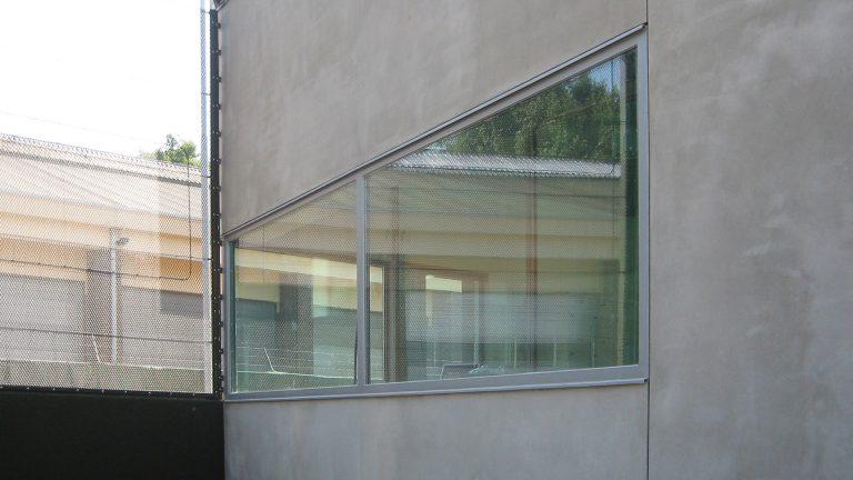 portiersloge Penitentiaire Inrichting architectuur beton raam detail Thomas Kemme