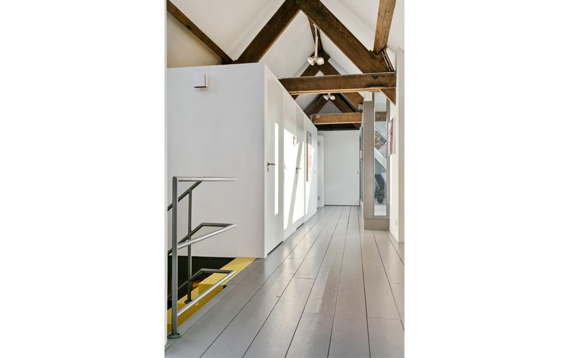 dakspanten herbestemming pakhuis tot loftwoning door architect Thomas Kemme