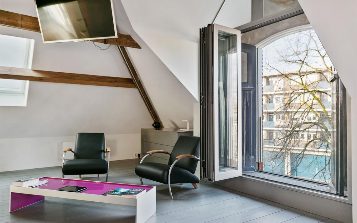 herbestemming pakhuis tot loftwoning door architect Thomas Kemme