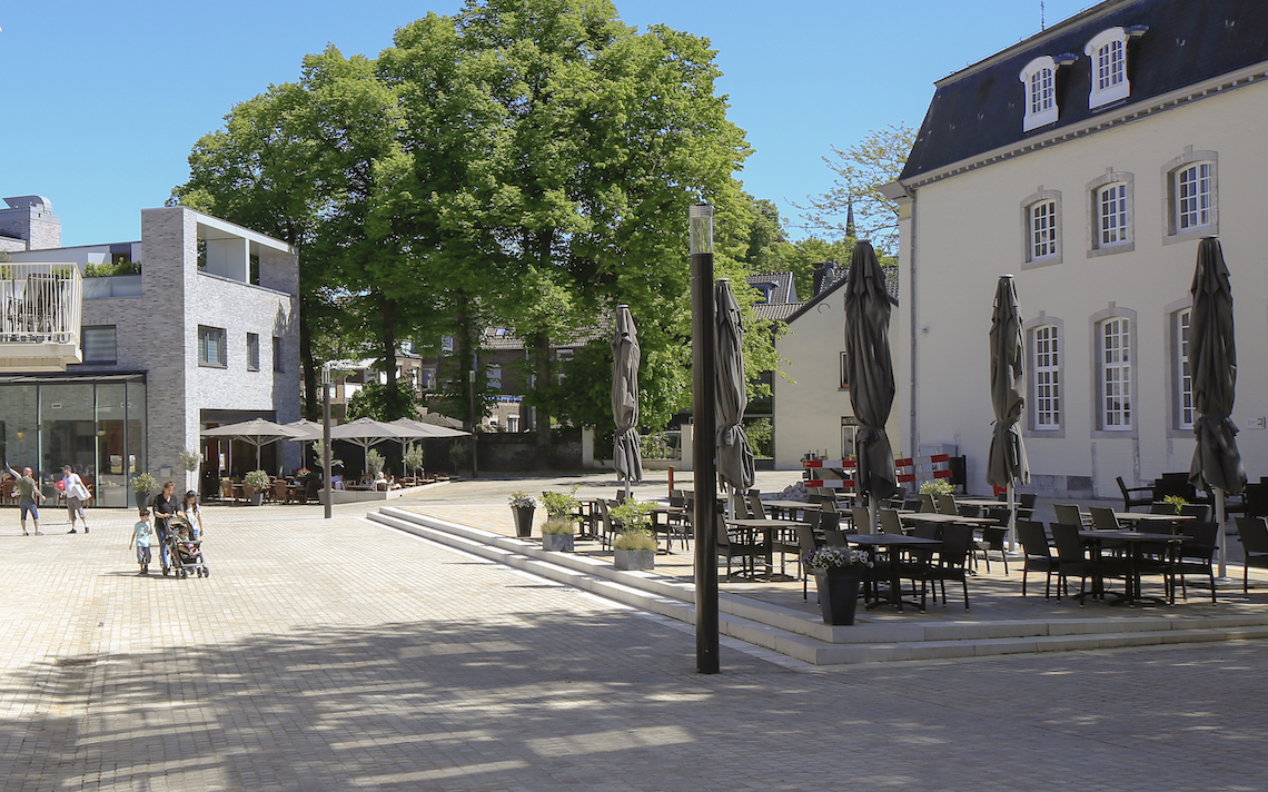 stedenbouwkundig ingreep Julianaplein Vaals nieuwbouw relatie met gemeentehuis