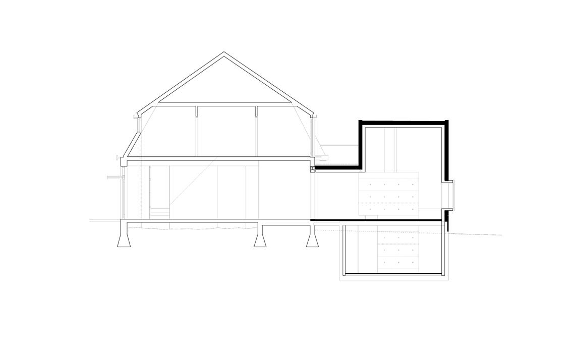 architectuur aanzicht lijntekening aanbouw architectuur