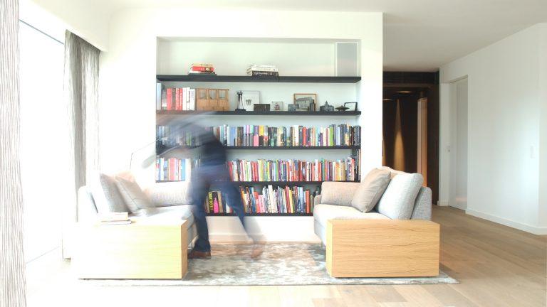Thomas Kemme architectuur interieur zithoek boekenkast