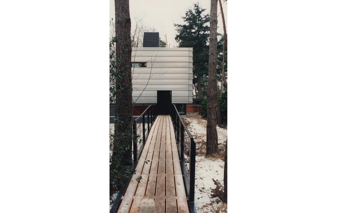 architectuur villa brug ingang bos omgeving