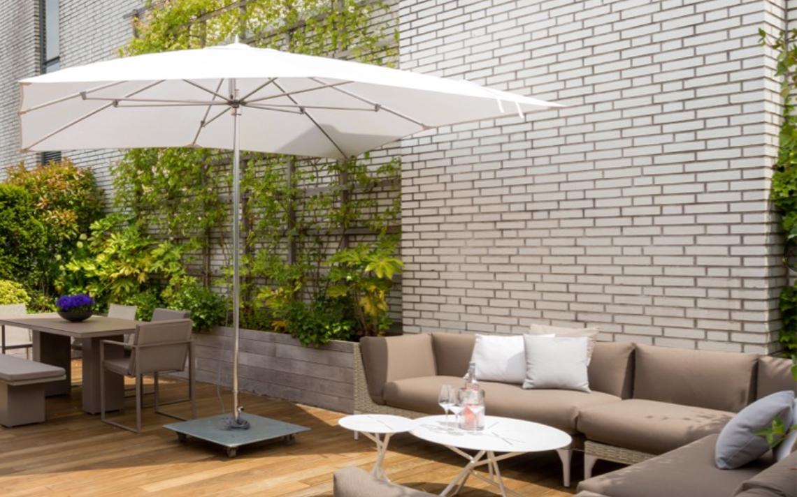 architectuur appartement buiten lounge groen