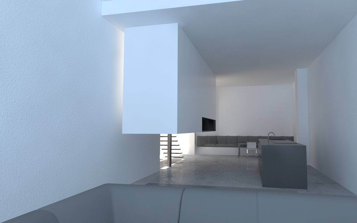 architectuur interieur render woon werk studio